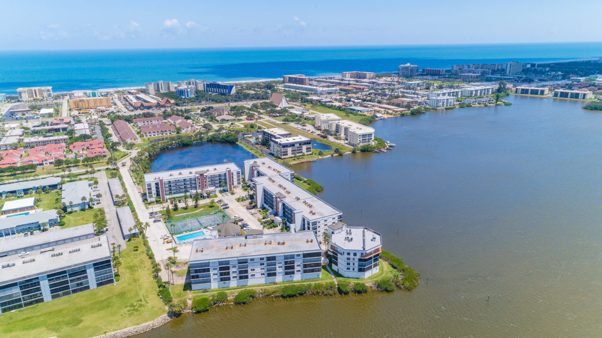 Cocoa Beach Aerial Real Estate